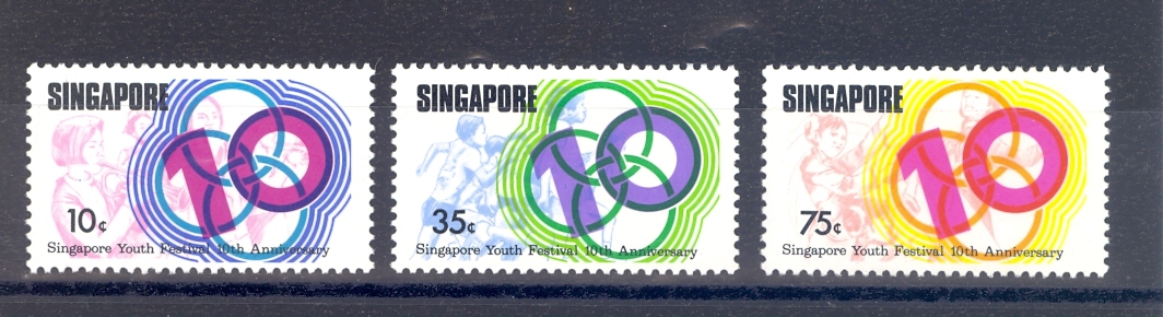 Singapore SG 276-8 Youth Festival 1976 MNH