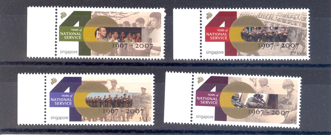Singapore SG 1707-10  2007 40 Years of National Service MNH