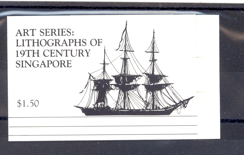 Singapore SG SB 5 1990 Art Series Lithographs of 19th Century of Singapore as a Stamp Booklet MNH