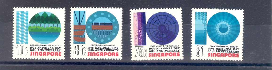 Singapore SG 256-9 1975  Tenth National Day Set. MNH