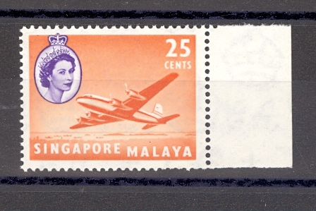 Singapore SG 47A 1949 New Shade Variety MNH