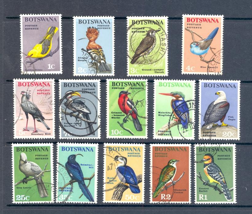 Botswana SG 220-33 1967 Birds Definitve Set Used