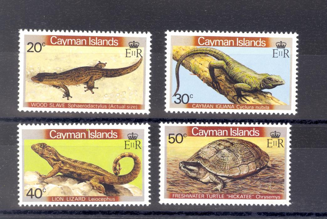 Cayman Islands SG 530-3 1981 Reptiles Set MNH