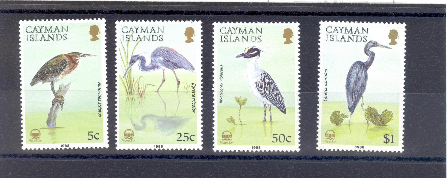 Cayman Islands SG 667-70  1988 Herons Set MNH