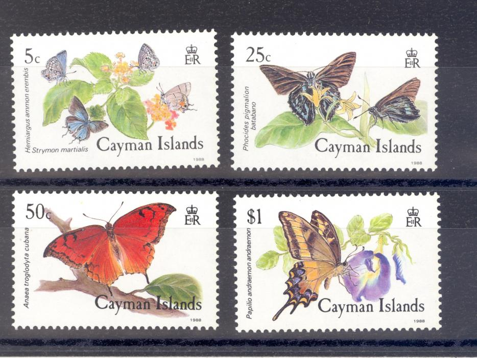 Cayman Islands SG 663-6  1988 Butterflies Set MNH