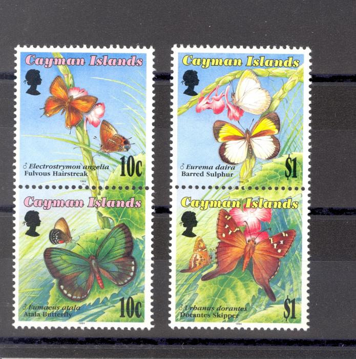 Cayman Islands SG 784-7  1994 butterflies Set 