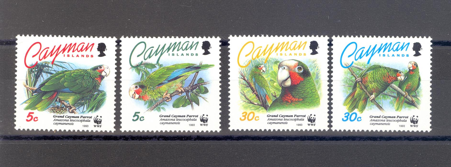 Cayman Islands SG 765-8 1995 Parrots Set MNH