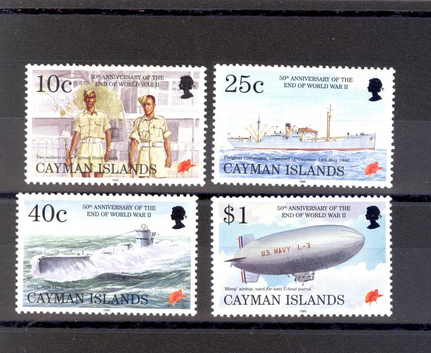 Cayman Islands SG 805-8 1995 Anniversary of WWII Set MNH